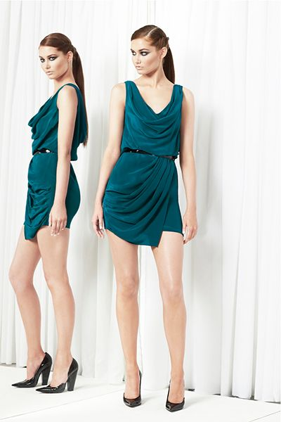 Green outfit perfect for evening wear.
