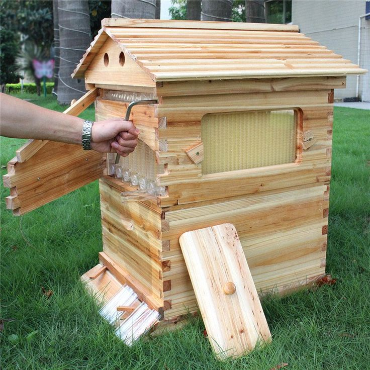 Free shipping Auto honey hive Langstroth bee hive kit langstroth beehive flow hive