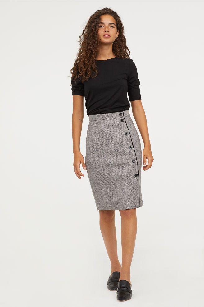 082075a845 Knee-length Skirt in 2019 | Career Fair | Gray skirt, Skirts ...