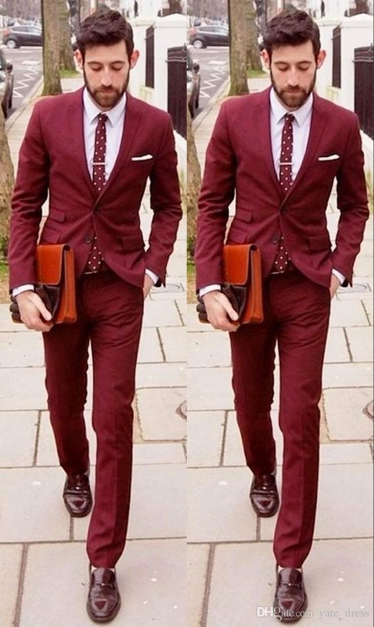 20 best Dark red suit images on Pinterest | Gentleman fashion, Guy ...