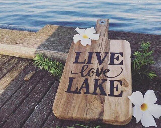 Live Love Lake, Lake Woodburning, Lake Sign, Lake Decor, Cottage Kitchen, Cottage Decor, Rustic Cottage, Rustic Summer Home,Beach House Deco