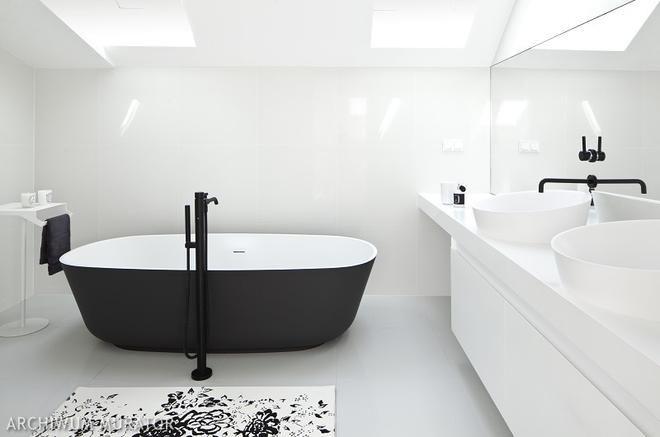 Znalezione obrazy dla zapytania baterie łazienkowe czarne