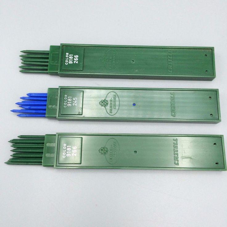Faber Castell Clutch Mechanical Pen Drawing Leads Green Blue 9181 266  245 3mm #FaberCastell