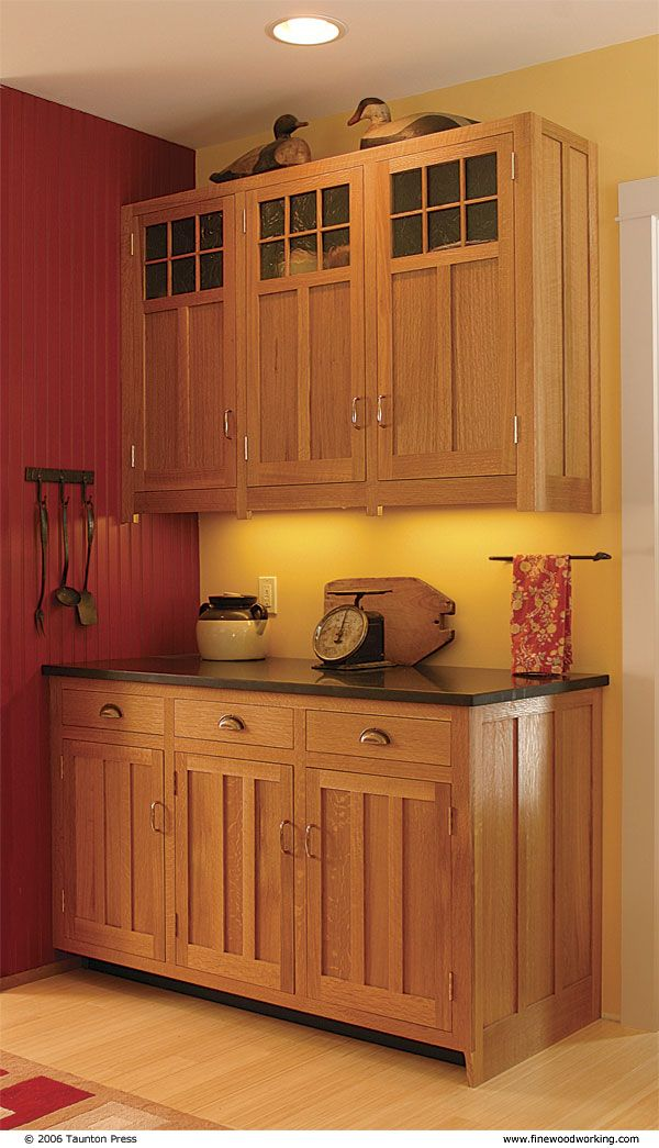 Craftsman Style Kitchen Cabinets | Hewn and Hammered: Scott Gibson's Shaker / Craftsman cabinetry
