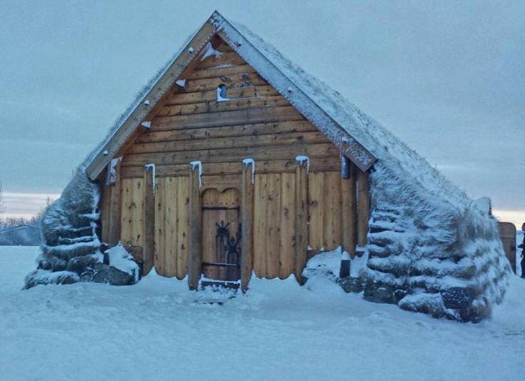 Viking longhouse replica.