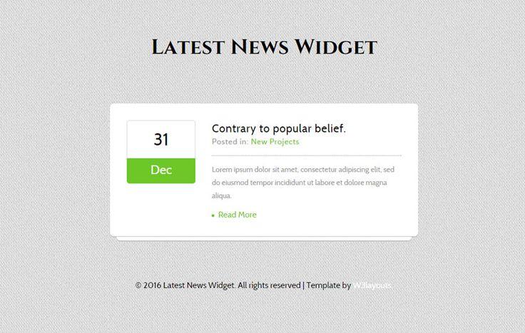 Latest News Responsive Widget Template - w3layouts.com