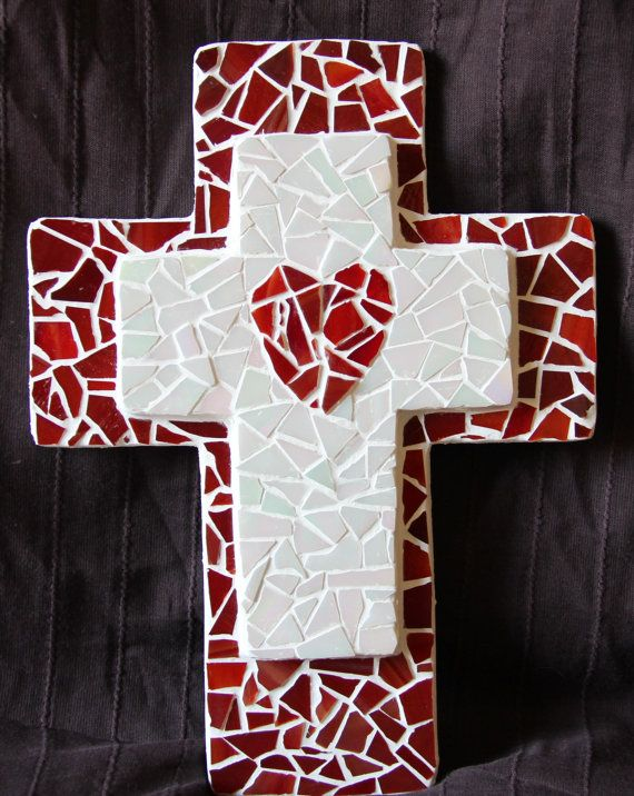 Hey, I found this really awesome Etsy listing at https://www.etsy.com/listing/100210964/mosaic-red-heart-cross