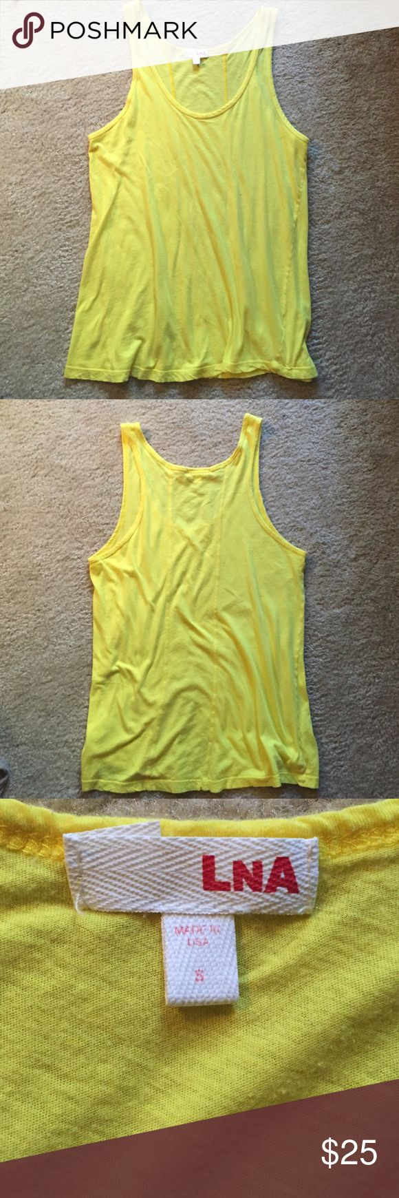 LNA Yellow Tank Top, S LNA Yellow Tank Top, size S.  Loose fit tank...like new!! LNA Tops Tank Tops