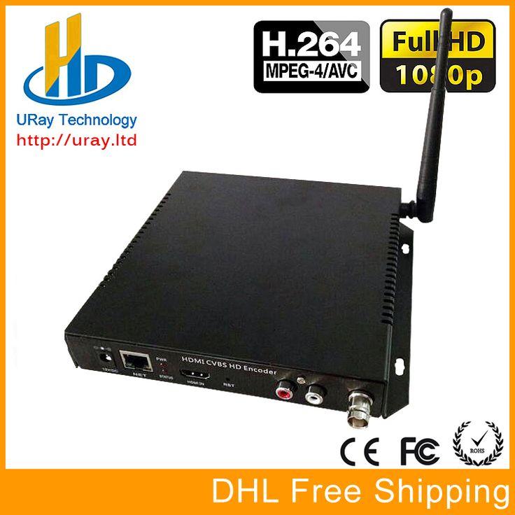 Envío Libre de DHL + HDMI CVBS/BNC Wifi/Wireless Video Audio Codificador H.264 Hardware Para IPTV, la Transmisión en vivo