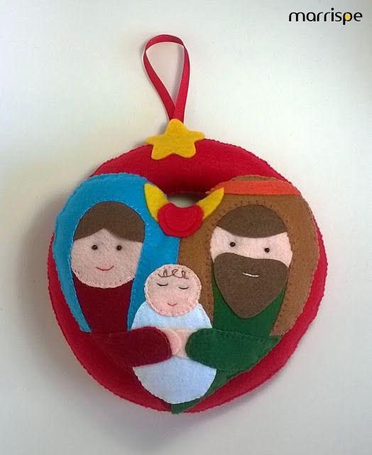 Guirlanda Sagrada Família #artesanato #decoração #decoraçãodenatal #guirlanda…