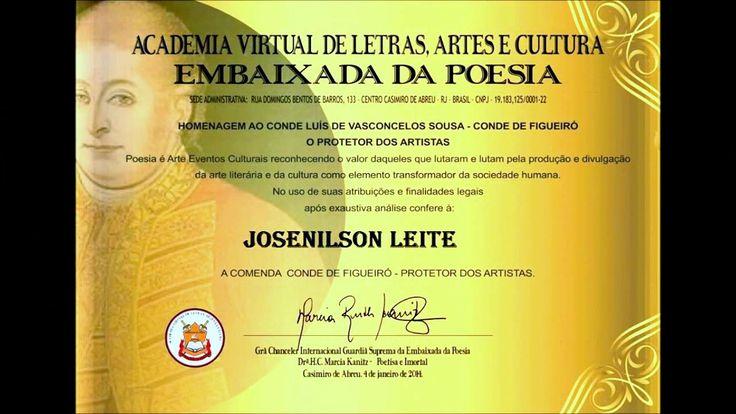 Biografia do autor Josenilson Leite - Poeta de Garanhuns