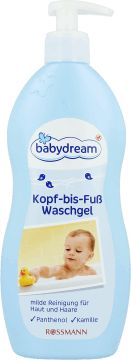 babydream,  żel do kąpieli, dla dzieci, 500 ml, nr kat. 123599