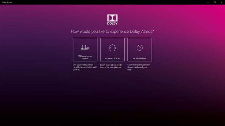 Dolby Access app for Windows 10 is now available download
