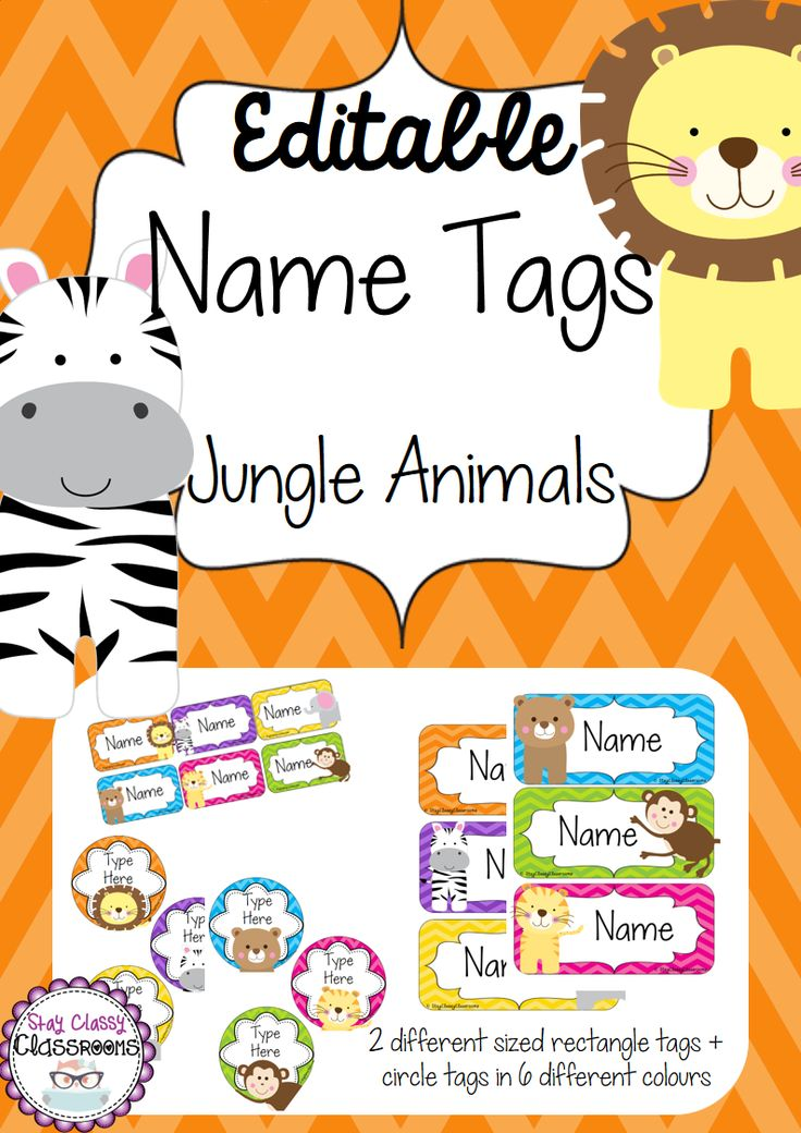 Purchase this resource now and earn 3 Points Want a Discount...Like this resource using the social media icons & a discount will automatically be applied to your purchase at checkout. Share Editable name tags/desk plates/labels perfect for the beginning of the year! These gorgeous rainbow chevron tags with jungle animals will look perfect on desks, tubs, …