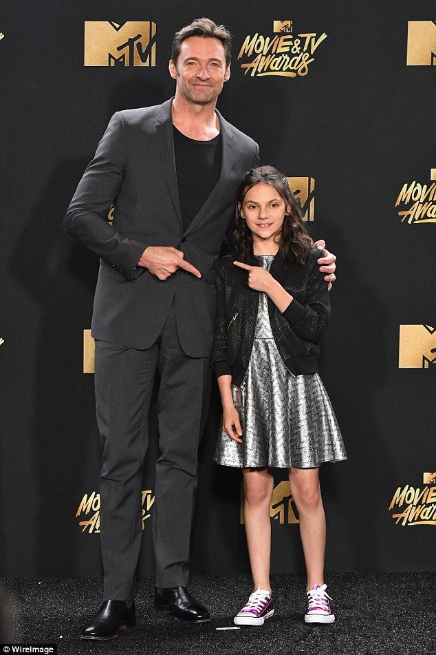 Hugh got served! Jackman, 48, received a copping from co-star Dafne Keen, 12, after the Wolverine actor took over the microphone at the MTV Movie and TV Awards in Los Angeles on Sunday