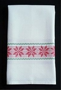 """Poinsettia On Madagascar Towel Kit #PM01 Kit includes: Malaga Towel 17 1/2"""" x…"""