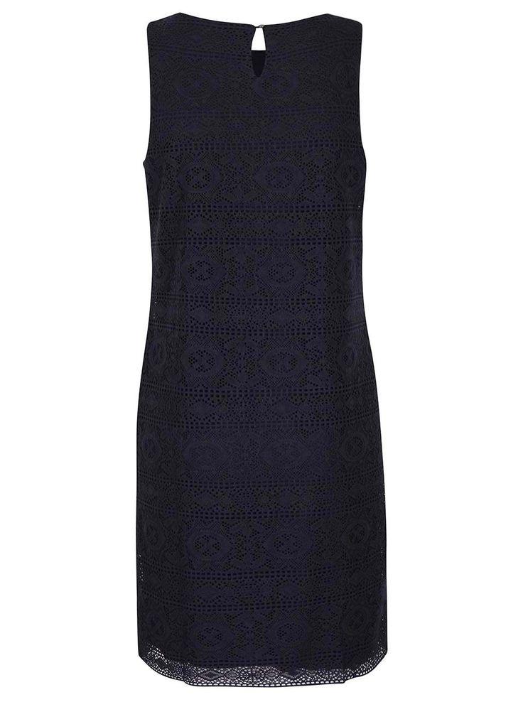 Tmavě modré krajkované šaty s.Oliver