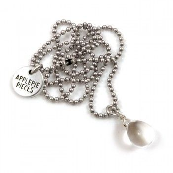 Back in stock! Happy tear clear 'Happy tears are words the heart can't express' #applepiepieces #necklace #jewelry #happy #tears