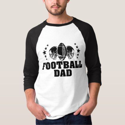 Football Dad American Football Father T-Shirt - fathers day best dad diy gift idea cyo personalize father family