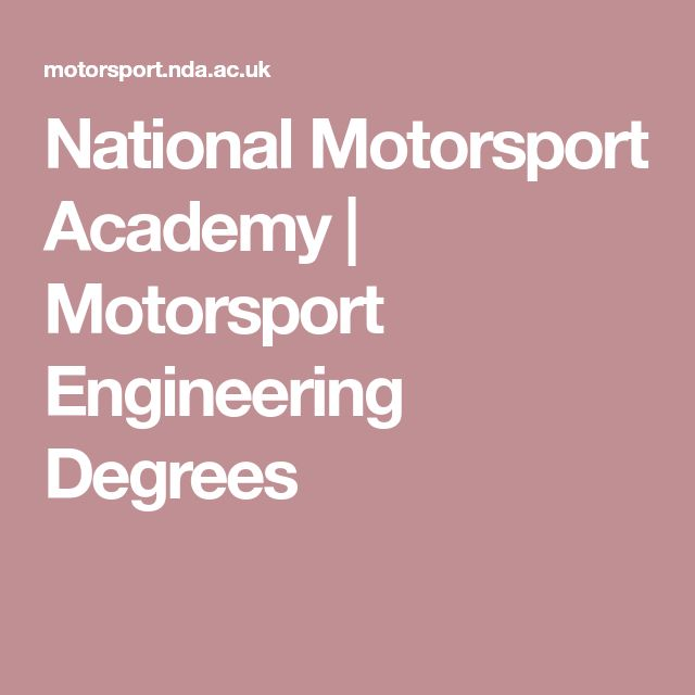 National Motorsport Academy | Motorsport Engineering Degrees