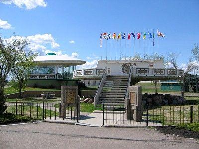 Alien Spaceship Landing Pad in St Paul, Alberta