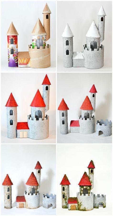 Basteln Sie ein Schloss aus wiederverwertbaren Mat…