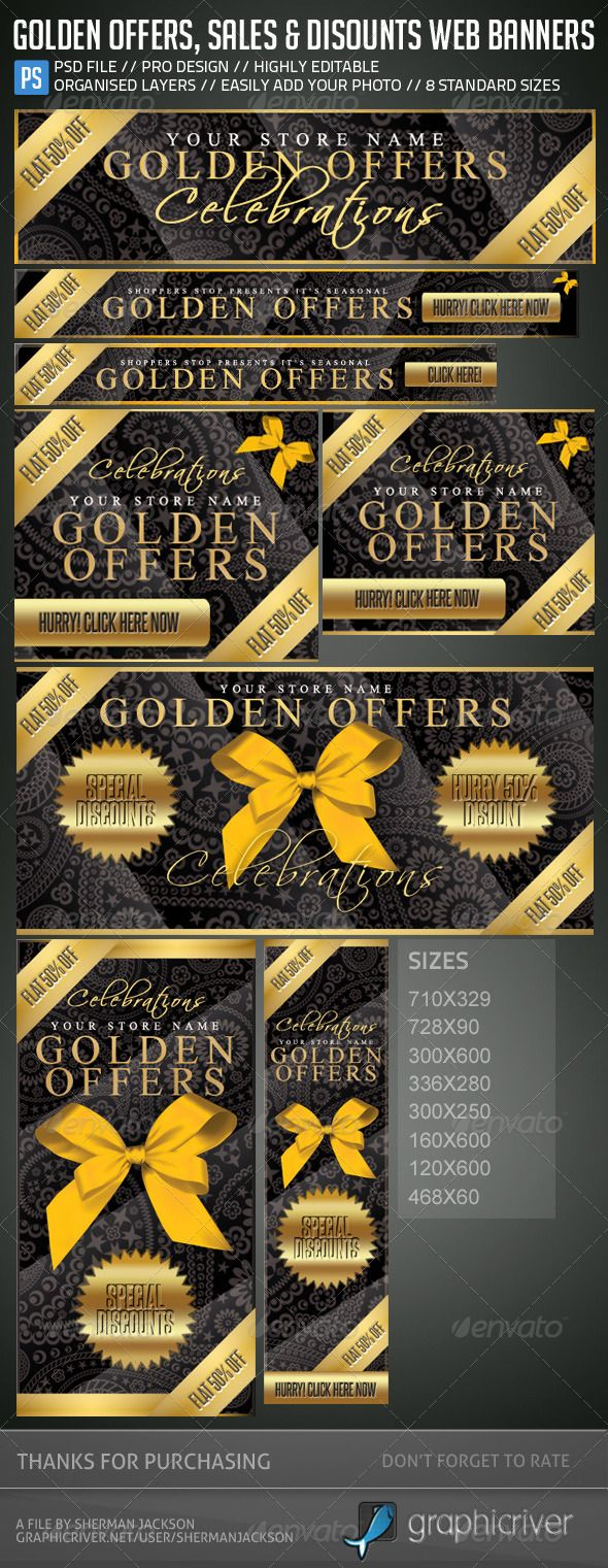 Online yuv color picker - Golden Offers Sales Discounts Web Banners
