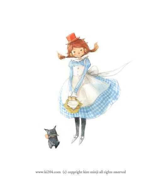"""Kim Min Ji, """"Wizard of Oz"""" illustration"""
