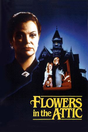 Flowers in the Attic (1987)  After the death of her husband, a mother takes her kids off to live with their grandparents in a huge, decrepit old mansion. However, the kids are kept hidden in a room just below the attic, visited only by their mother who becomes less and less concerned about them and their failing health, and more concerned about herself and the inheritence she plans to win back from her dying father.