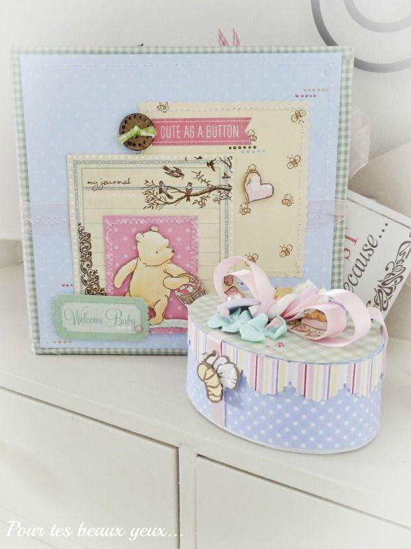 Gift set Winnie the Pooh (album and treasure box) - Scrapbook.com