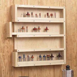 STORAGE - Easy-Access Router-Bit Organizer, Downloadable Woodworking Plan.