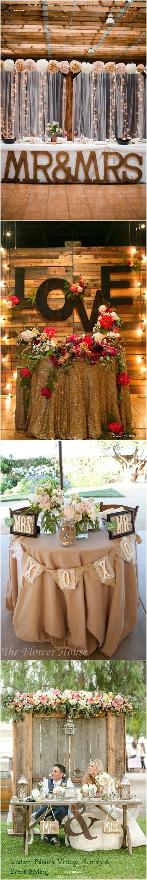 Rustic Country Wedding Ideas Sweetheart Table Decor For Reception Http