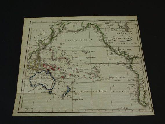 1811 OCEANIA old map of Australia  original by DecorativePrints