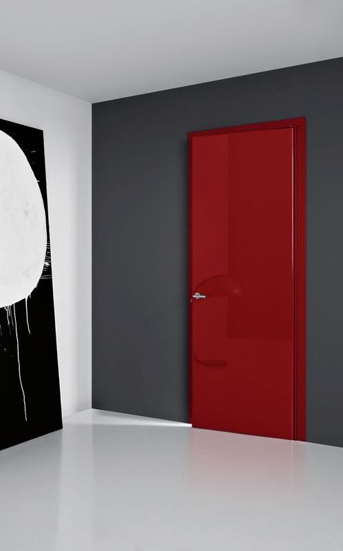LCD87 - Laqué rouge brillant  #door  #indoor  #porte