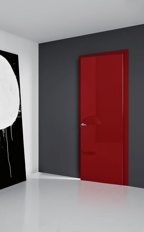 LCD87 - Laqué rouge brillant  #door  #indoor  #porte