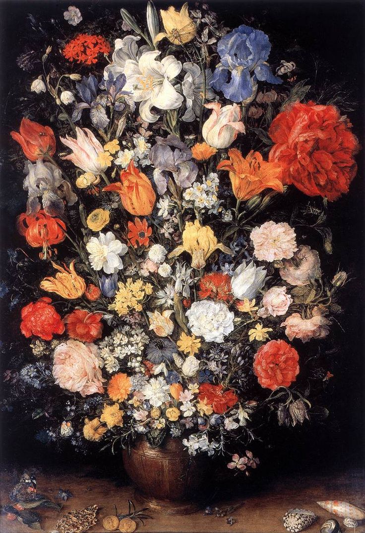 Jan Brueghel the Elder c. 1606  Vase of Flowers  Elegant Home and Art   ZsaZsa Bellagio - Like No Other