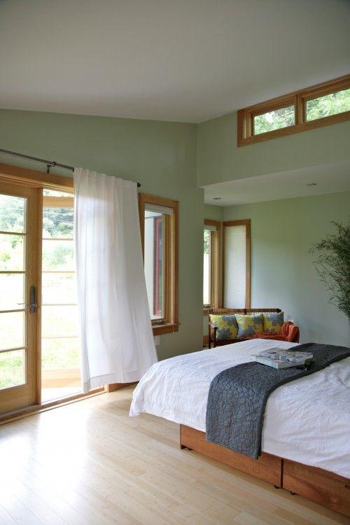 Green with oak trim