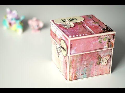 Tutorial Exploding Box - YouTube                                                                                                                                                                                 Más