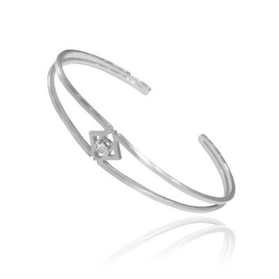Oculus Bracelet in Sterling Silver with Diamond - GITTE SOEE Jewellery - Shop Online www.gittesoee.com