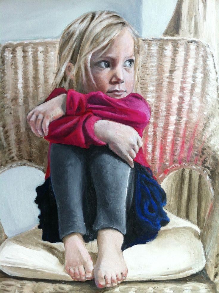 Margot on a chair - Gayle Fernau
