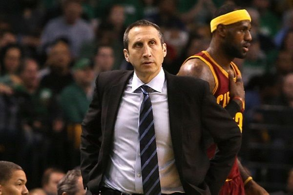 LeBron James got physical in moving his coach away from a referee. - Mike Lawrie/Getty Images Sport