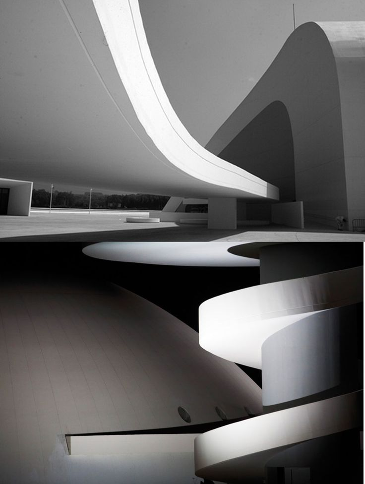 Oscar niemeyer international cultural center  asturias, Spain.