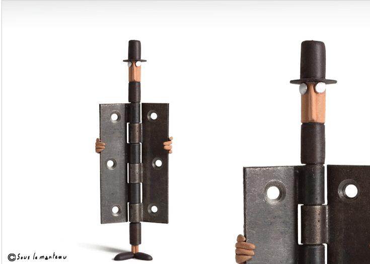 El artista francés Gilbert Legrand transforma objetos domésticos cotidianos en esculturas.