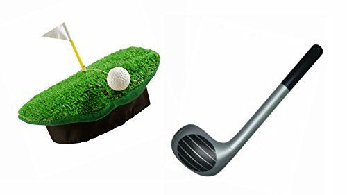 Golf Games Collection | GOLF NOVELTY HAT WITH GOLF GREEN BALL  GOLF FLAG  INFLATABLE GOLF CLUB STAG NIGHT FANCY DRESS by Henbrandt ** Find out more about the great product at the image link. Note:It is Affiliate Link to Amazon.