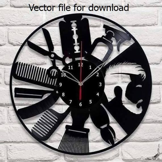 Wall Clock Vector File For Laser Cutting Cnc Wooden Designer Dxf