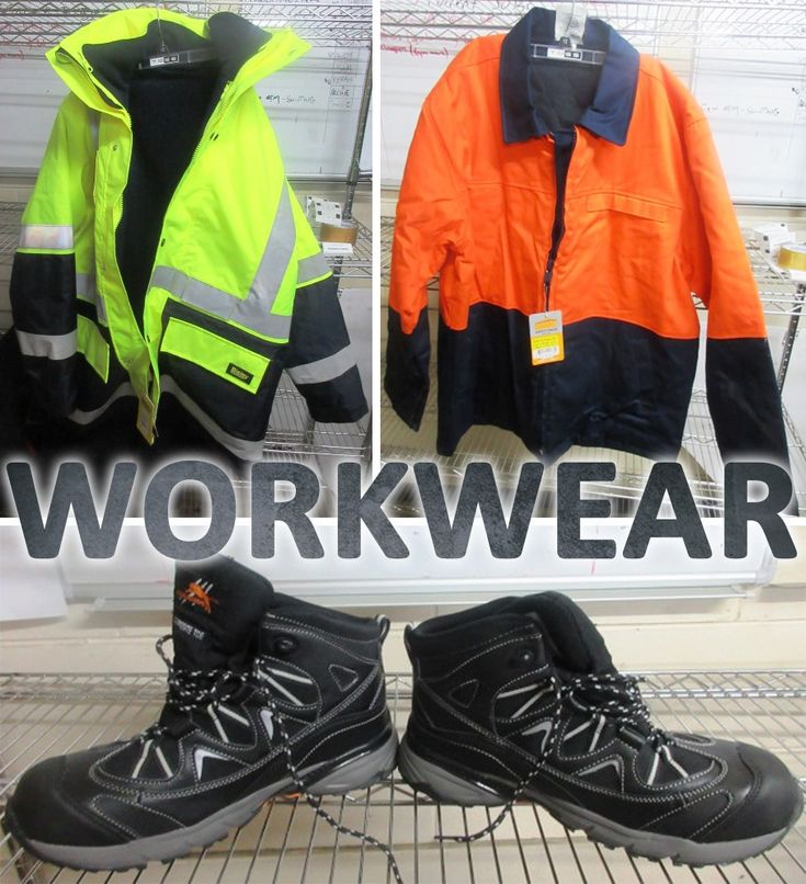 There are protective work shirts, pants, boots and jackets in the Tools and Trade Equipment Clearance Auction ONLINE NOW - auction ends Wednesday at 7:00 pm