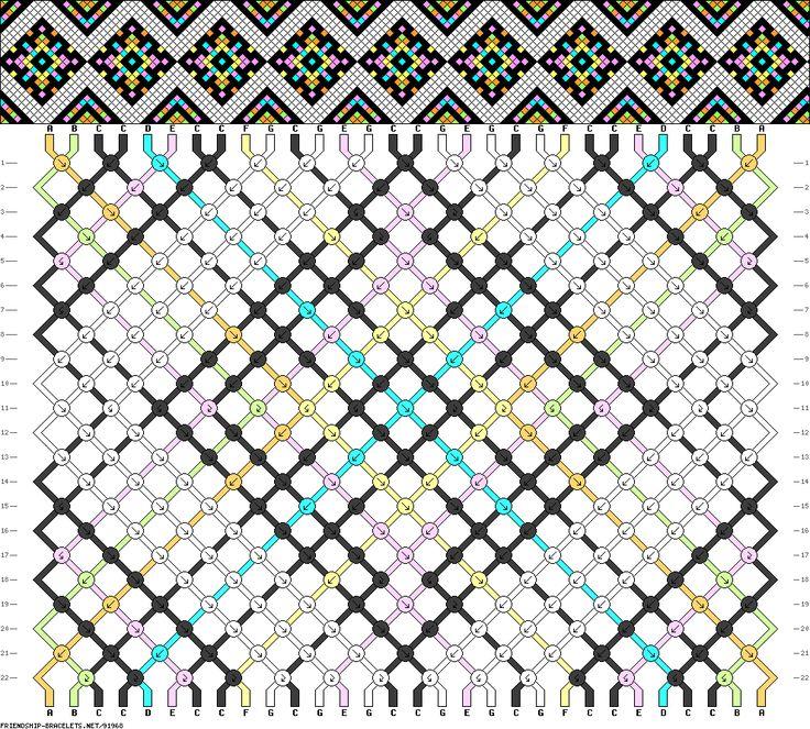 Muster # 91968, Streicher: 30 Zeilen: 22 Farben: 7