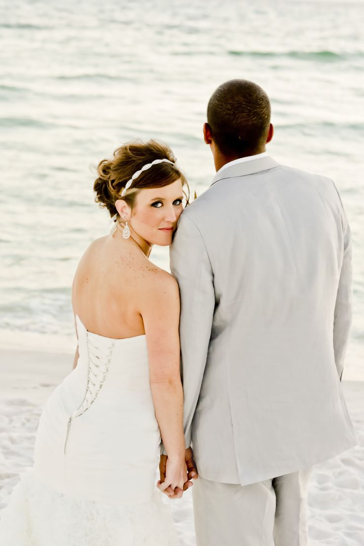 Bride and Groom Picture on Santa Rosa Beach, Florida