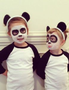 Panda Kostüm selber machen   Kostüm Idee zu Karneval, Halloween & Fasching
