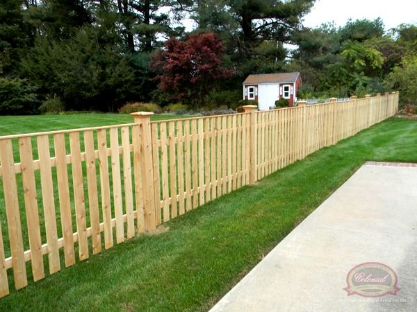 straight top picket fence - Google Search